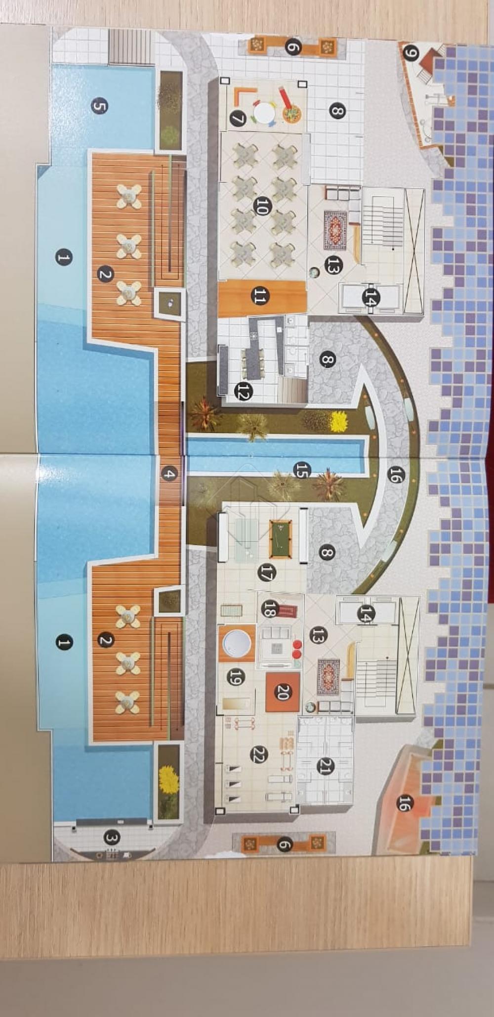 O Apartamento: Área: 80 m2; Varanda Gourmet; Sala de estar/jantar; 02 quartos sendo 01 suíte; DCE; Cozinha; Área de serviços; Vaga de garagem: 01 Posição: Leste. O Prédio: 02 Torres; 17 Pavimentos por torre; 02 por andar; Pavimento semi-subsolo (garagens); Pavimento térreo: Hall de entrada, recepção, Estar e garagens; Pavimento mezanino: Áreas comuns e de lazer; 02 elevadores por torre; Gerador, Central de gás; Central de lixo; Antena coletiva; Medidores individuais de água, energia  e gás; Pré instalação para Split; Salãp de festas; Salão de jogos; Brinquedoteca; Sala de Tv; Ofurô; Academia; Sauna; Piscina adulto e infantil