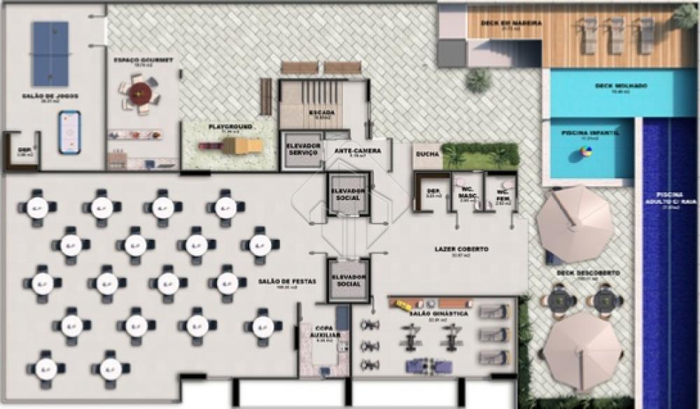 Características da unidade:  * 03 dormitórios, sendo 01 suíte, * Sala, * Banheiro social, * Cozinha, * Dependência de serviço completa.  O lazer é composto por:  - Piscina com raia semi-olimpica,  - Piscina infantil,  - Deck em pedra, - Deck, - Salão de festas,  - Salão de jogos,  - Salão de ginástica, - Wcs adaptados,  - Play-ground, - Espaço gourmet.  02 apartamentos por andar.  AGENDE AGORA SUA VISITA TEIXEIRA DE CARVALHO IMOBILIÁRIA CRECI 304J - (83) 2106-4545